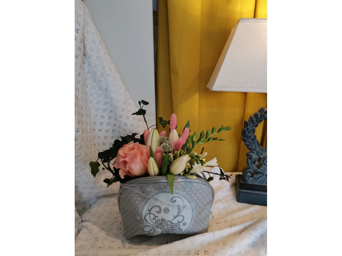 Trousse de toilette Mathilde et ses fleurs