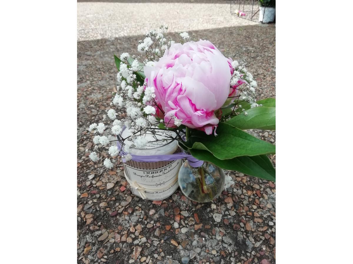Bougie Durance et sa décoration florale !