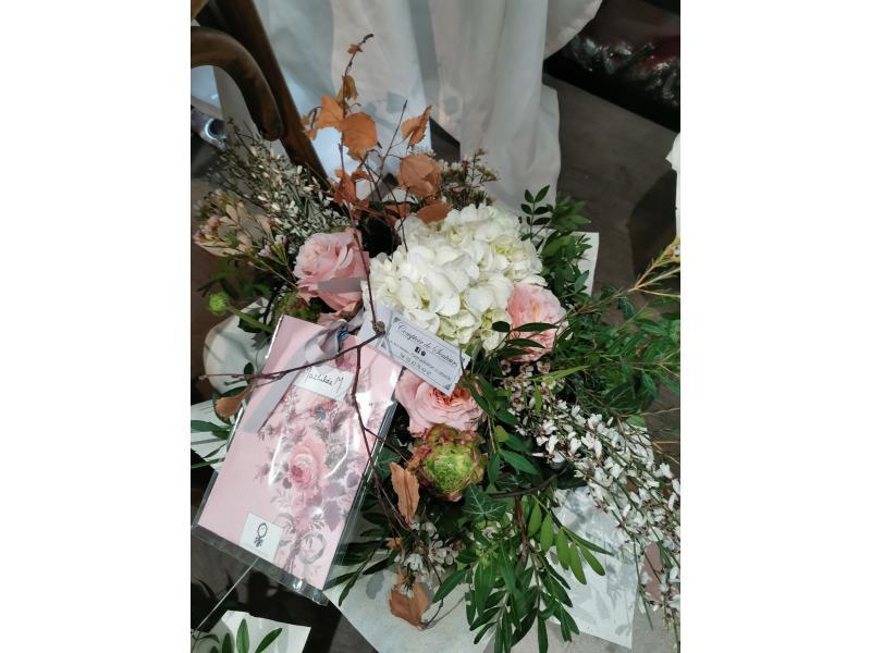Bouquet rond pastel , Fleurs d 'hiver !
