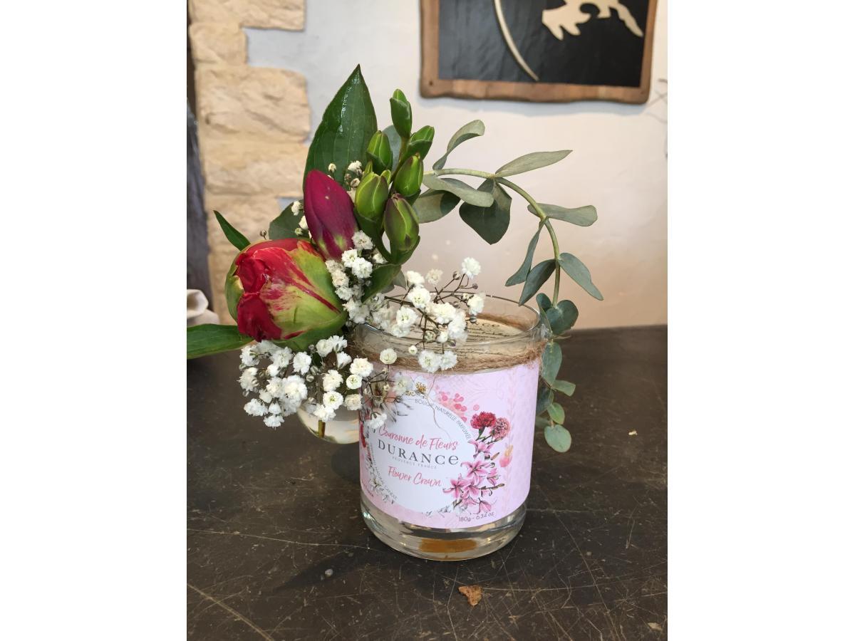Bougie + fleurs